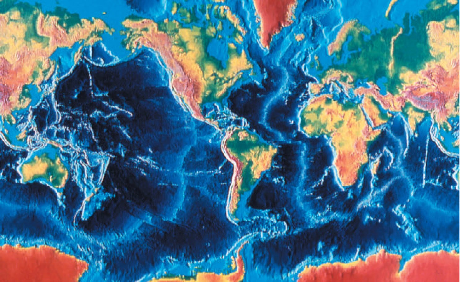 Sea-floor topography derived from sonar depth measurements