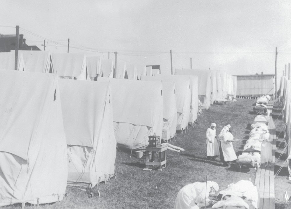 Influenza Camp, 1918