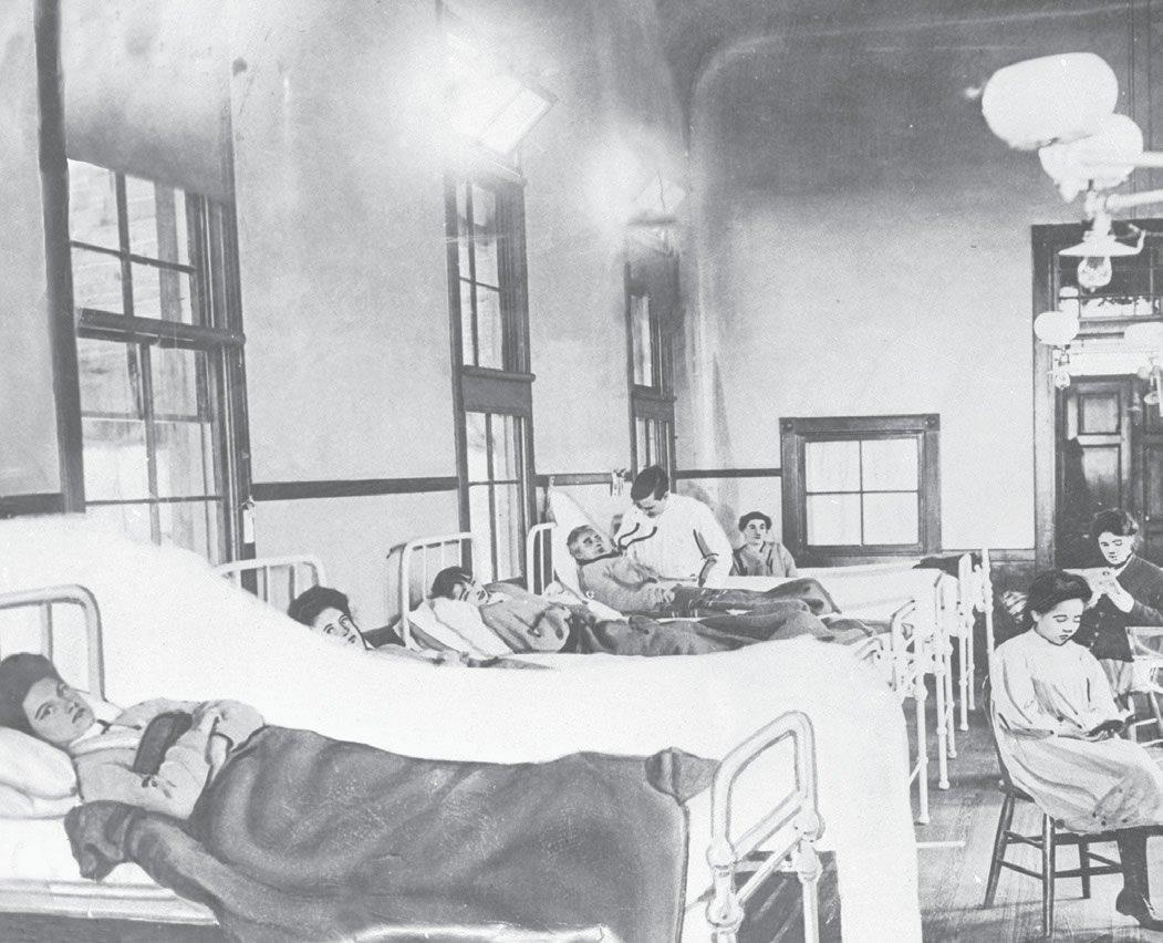 Thyphoid Mary in Hospital Bed