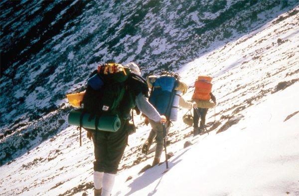 Climbing Steep Ridge