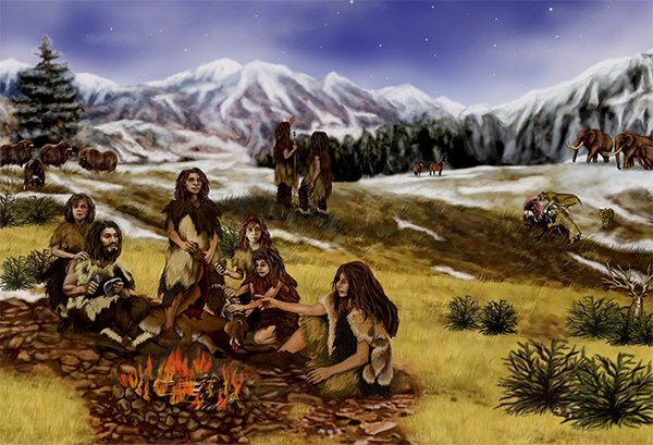Neanderthal Drawing