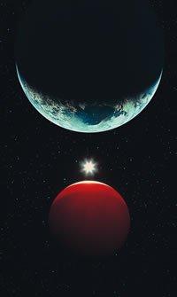 Earth, Moon, and the sun