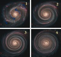 Differential rotation of a spiral galaxy