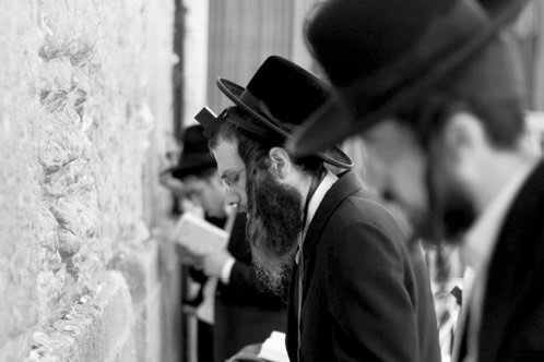 Orthodox Jewish Men Praying