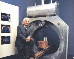 Dr. Damadian with prototype machine