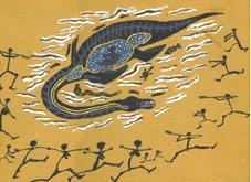 Aborginal artist's impression of 'Yarru'