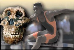 Athlete and skull