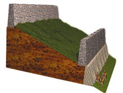 Cross-section of Jericho's walls