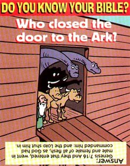 Who closed the door to the Ark?