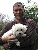 Ken Ham with family dog
