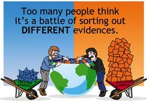 Too many people think it's a battle of sorting out different evidences.