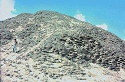 The mud-brick pyramid of Amenemhet III