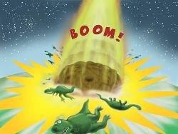 Meteorites hitting Earth
