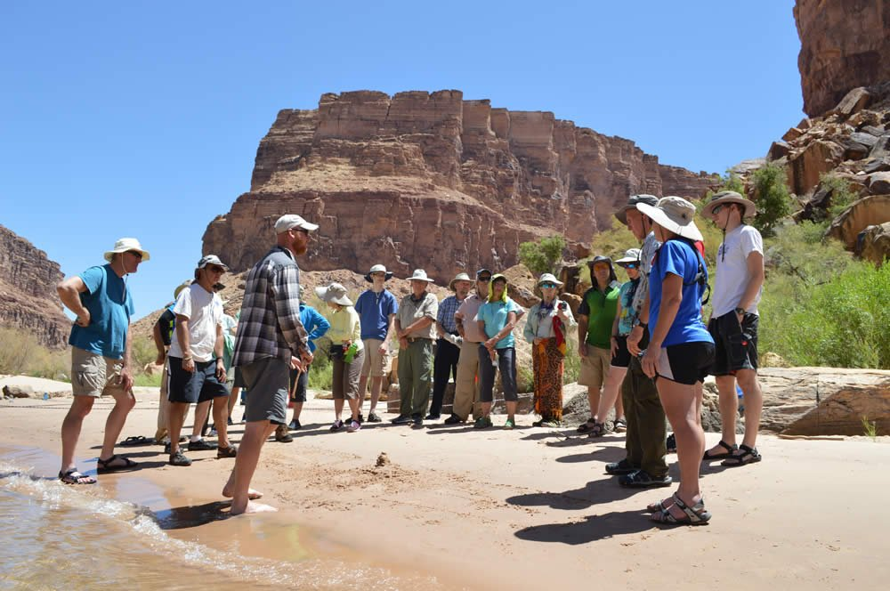 Jon Albert Teaching Group in the Grand Canyon