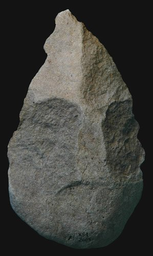 Hacha de mano de los Homo erectus