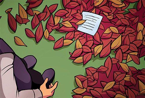 Note in Leaves