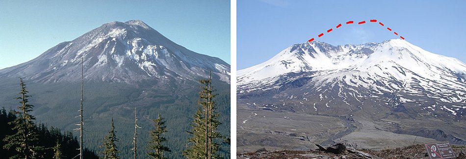 Mt. St. Helens Before/After