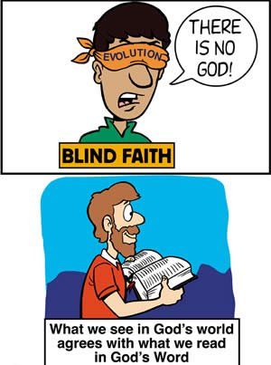 Evolution—the true blind faith
