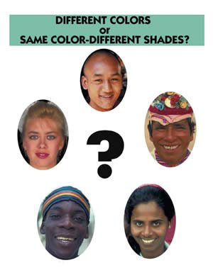 Different colors or same color—different shades?