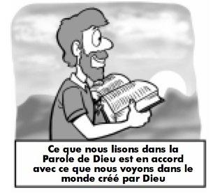 Ce que nous lisons dans la Parole de Dieu est en accord avec ce que nous voyons dans le monde créé par Dieu