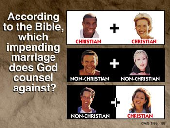 Which impending marriage does God counsel against?