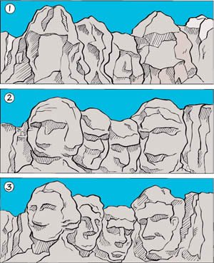 Mt. Rushmore—formed by natural processes?
