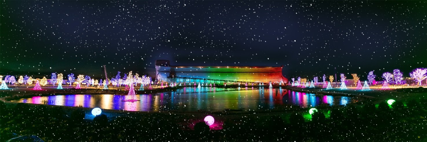 Ark Encounter in Rainbow Lights