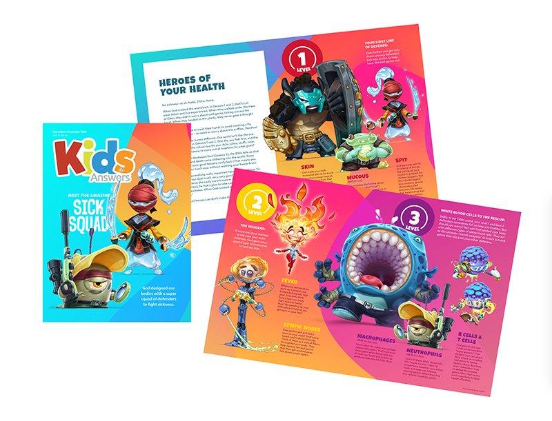 Kids Answers Magazine Sick Squad Issue