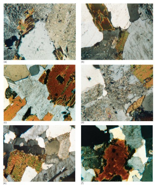 Photo-micrographs of the Shap Granite