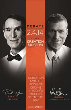 Live Stream of Debate Between Bill Nye and Ken Ham