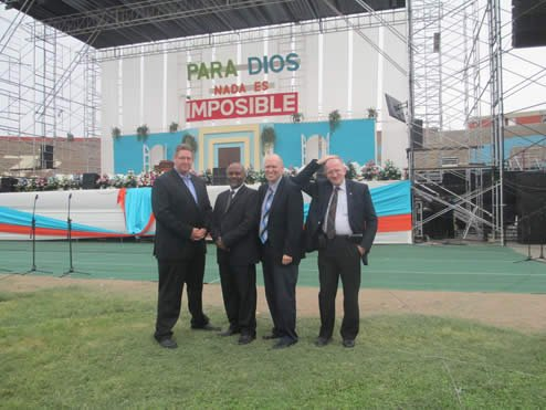 Joe Owen, Creous Ramdath, Steve Ham, y Andy McIntosh