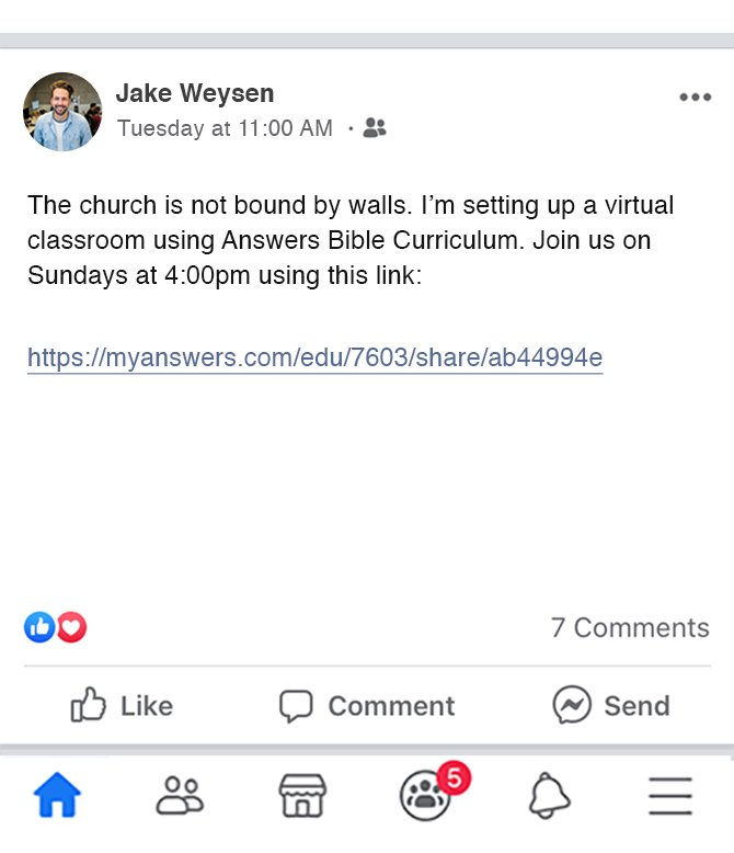 Run a Virtual Sunday School for Free