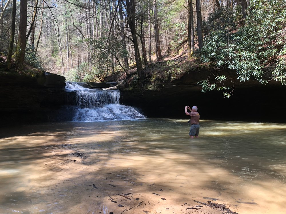 Wading in Rockbridge Fork
