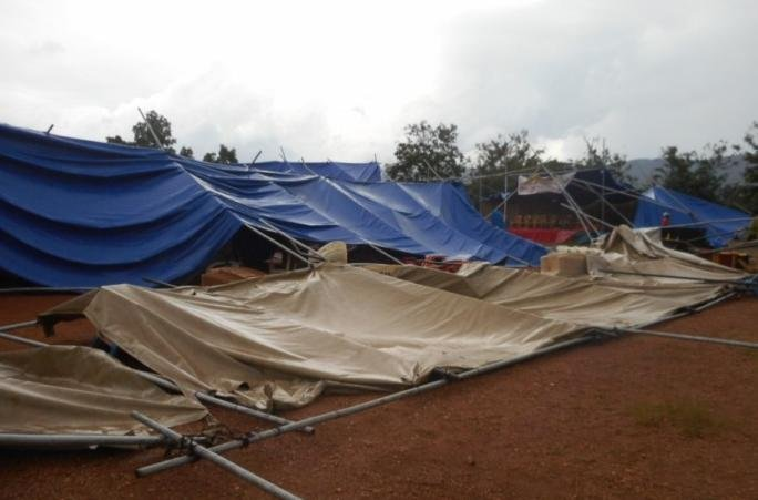 Tent Collapsed After Togo Conference