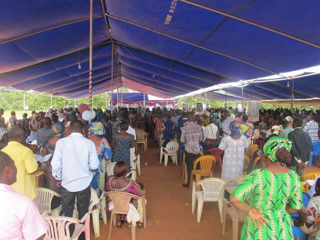 Tent for Togo Conference
