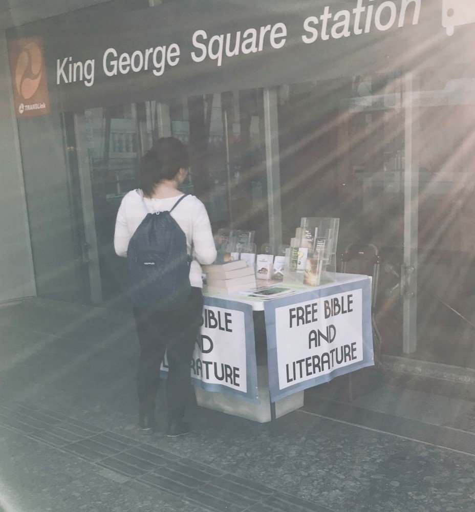 Free Bible and Literature table