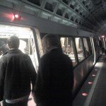 Ken getting on the metro