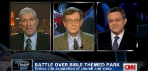 Ken Ham debates Rev. Barry Lynn on the Anderson Cooper 360 CNN program