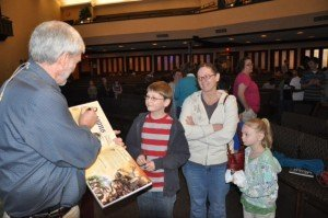 Autographing books for children