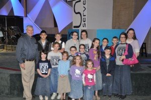 Elementary and middle school students from Northside Christian School