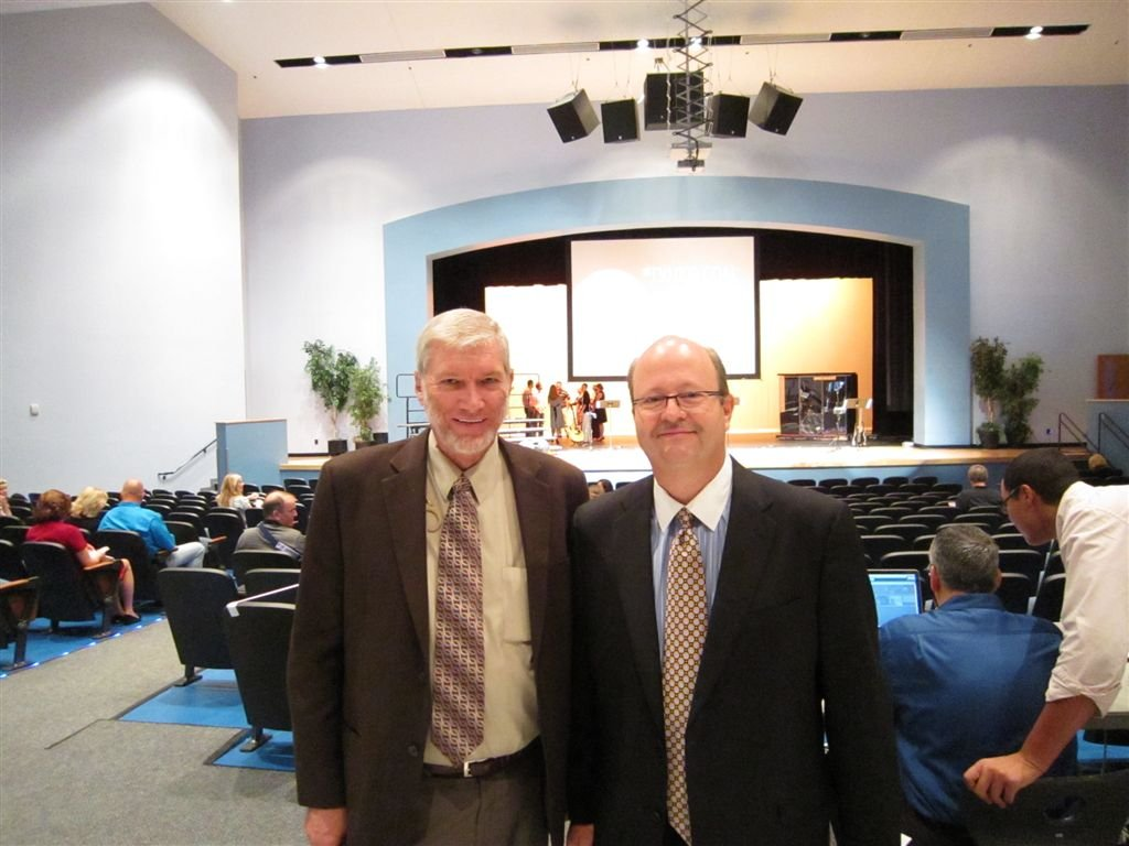 The senior pastor of First Baptist Church, Dr. Mac Brunson, and me