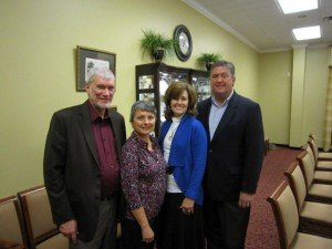Mally and I with the Senior Pastor and his wife (Steve and Donna Gaines).