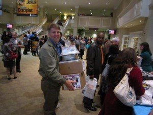 Nearly all the resources were sold to excited people wanting to be equipped to defend the faith.