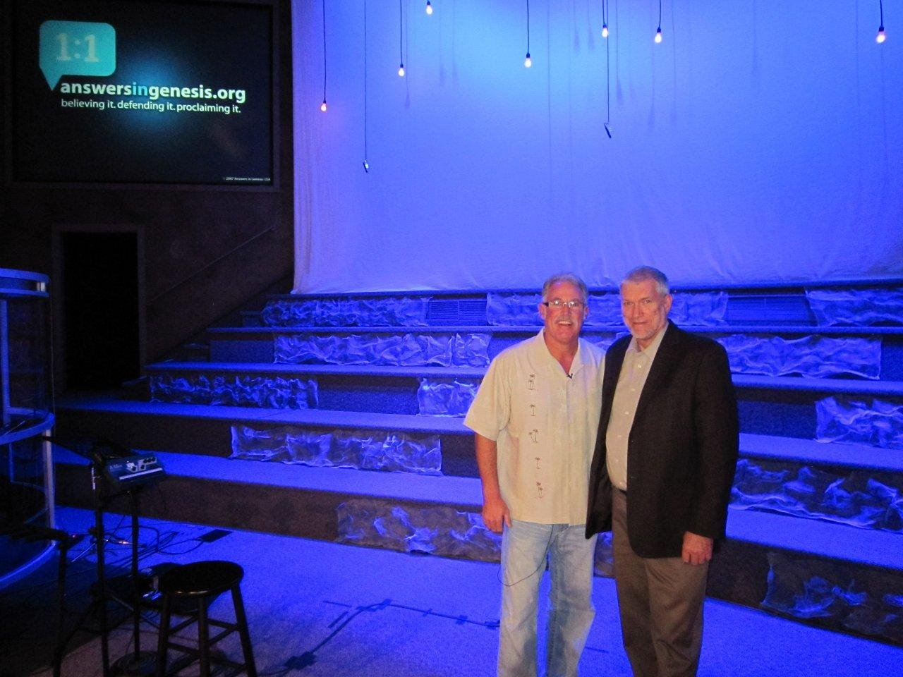 Ken Ham with Pastor Rick Countryman