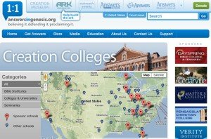 Creation Colleges website