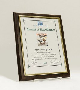 Answers magazine award