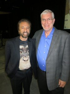 Ray Comfort premiered the Evolution vs. God film. Here I am with Ray.