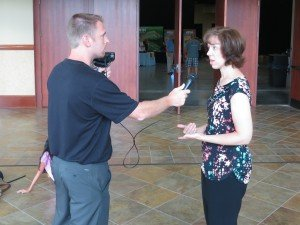 Dr. Georgia Purdom (pictured being interviewed by Eric Hovind)
