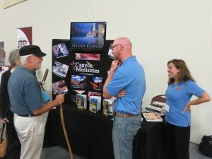 We had a number of exhibitors, including Canyon Ministries.