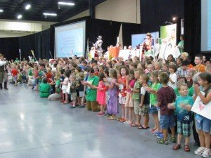 Mega Conference VBS children's closing